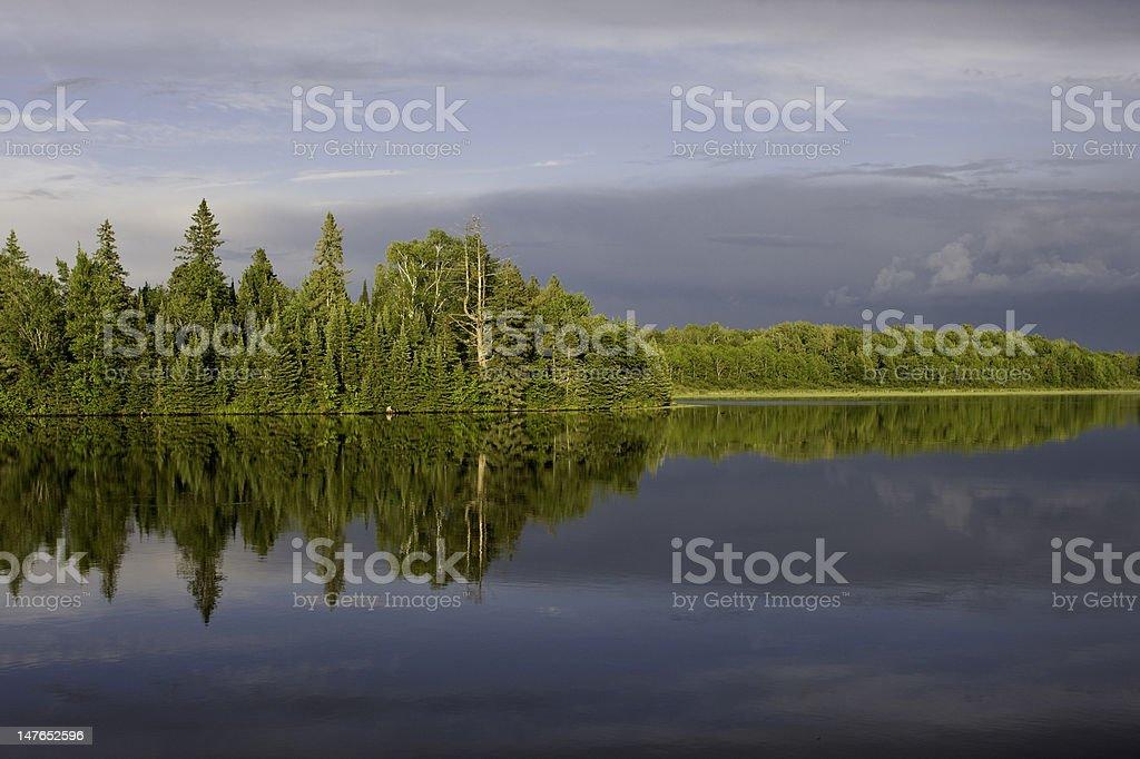 Northern Wisconsin Lake Scene royalty-free stock photo