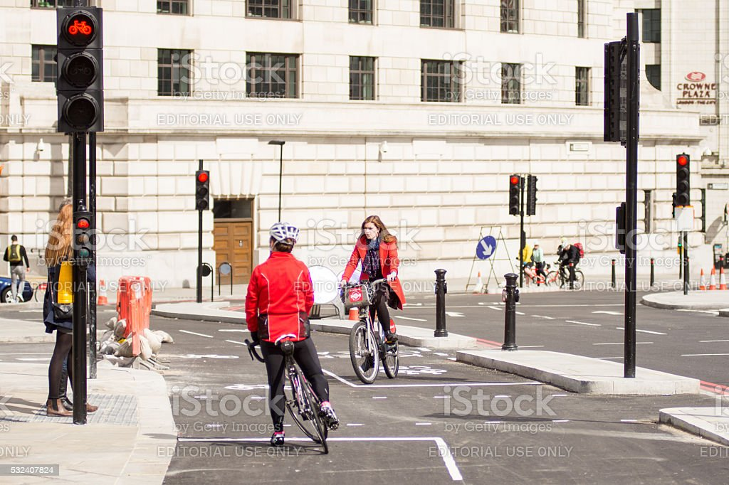 North-south Cycle Superhighway stock photo