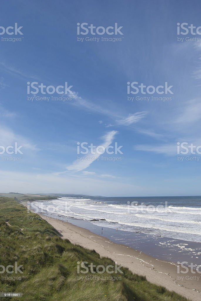 Northumberland coastline near berwick upon tweed stock photo