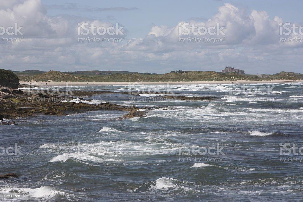 northumberland coastline royalty-free stock photo