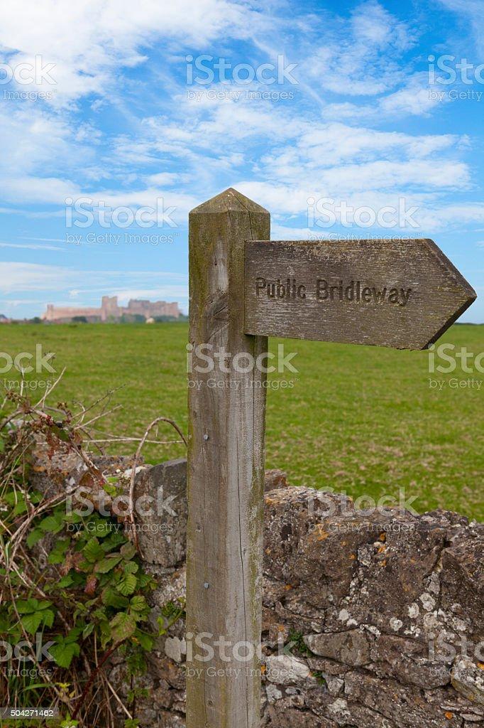 Northumberland Countryside stock photo