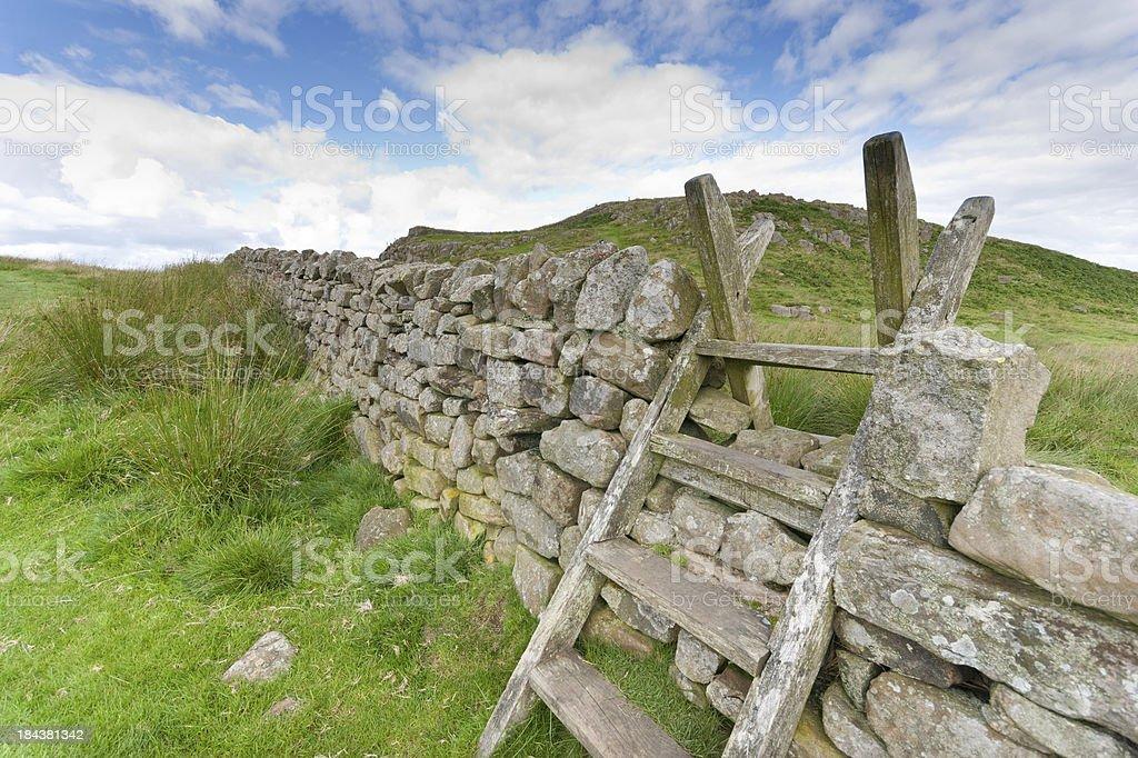 Northumberland or Cumbrian Ladder Stile stock photo