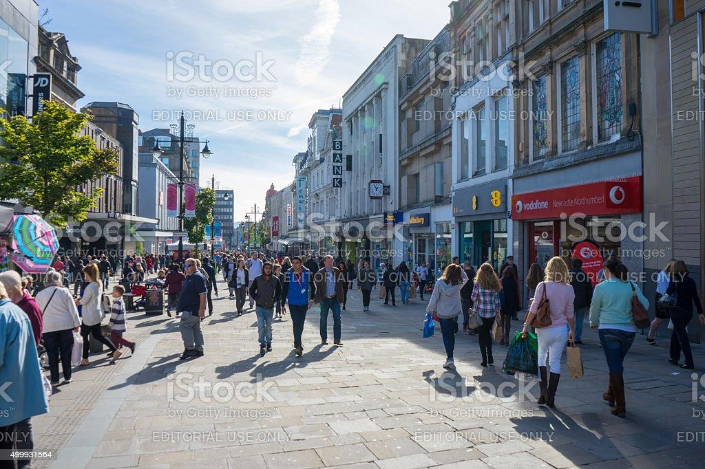 Northumberland Street - Newcastle stock photo