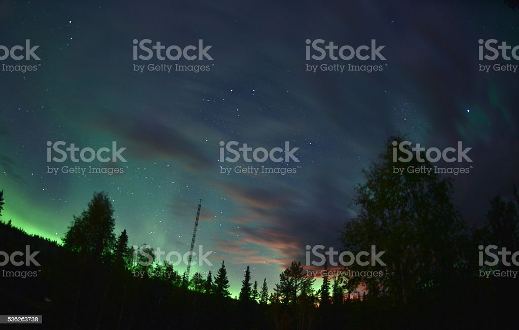 Northwest Auroras stock photo
