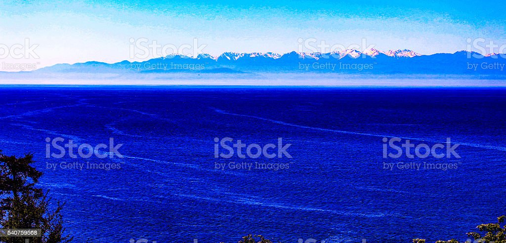 Northwest Blue Dreams stock photo