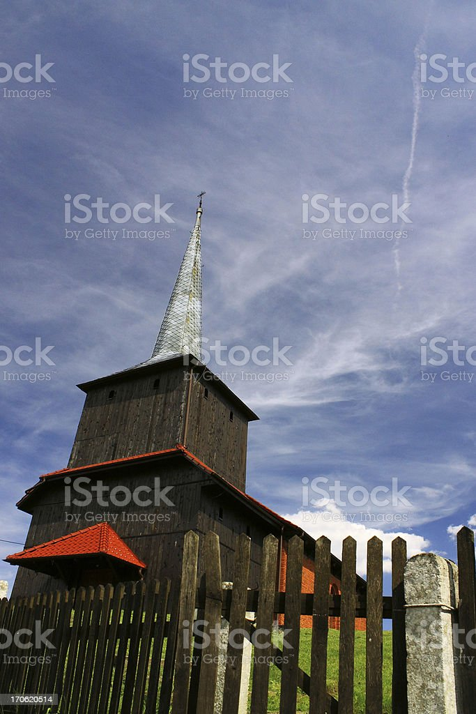 North-west of Poland, Wooden Church stock photo