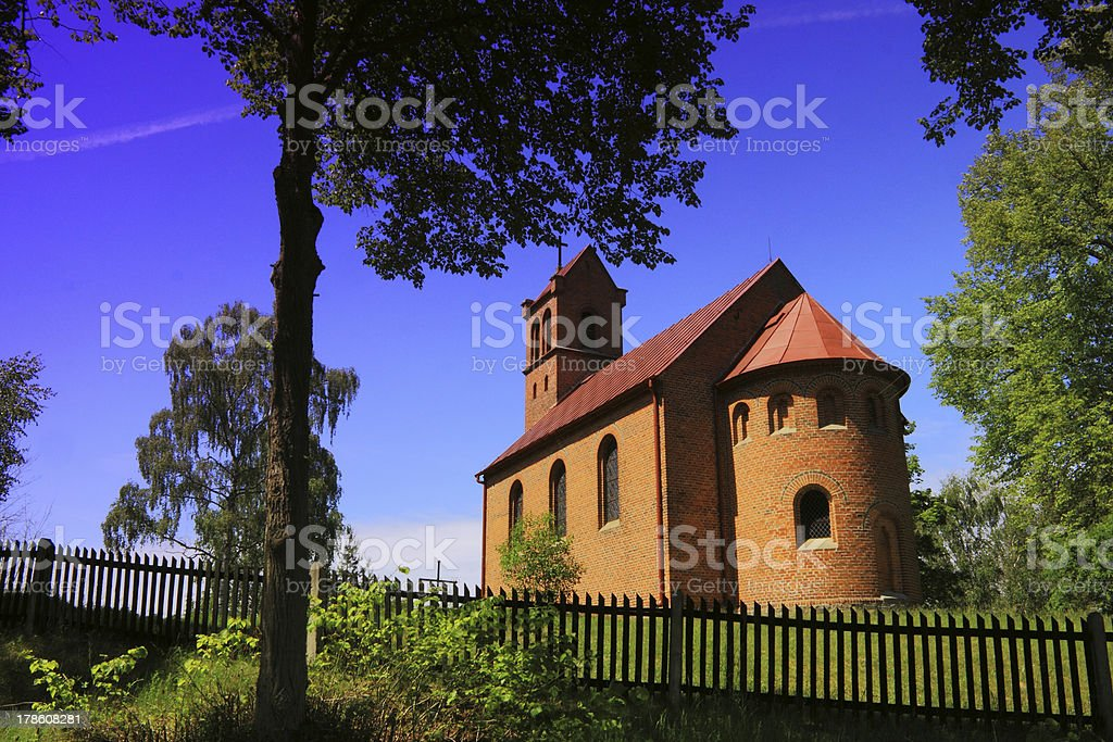 North-west Poland, Countryside Church stock photo