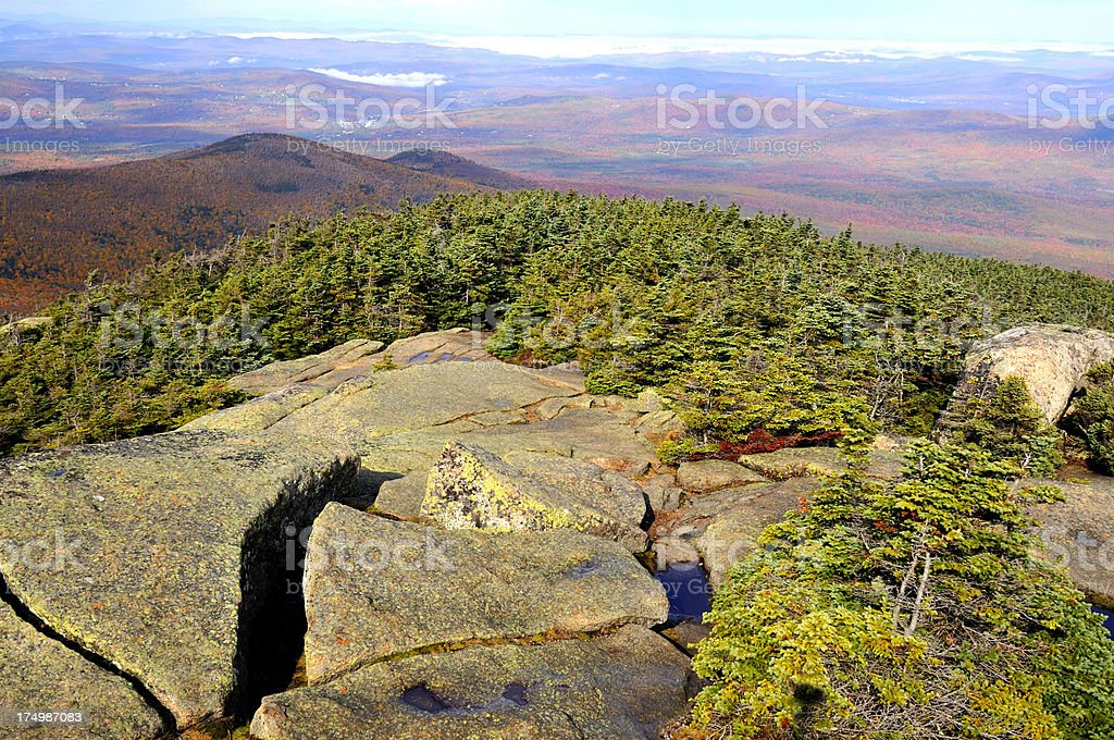 Northwesterly View of Mt. Garfield Summit Approach stock photo