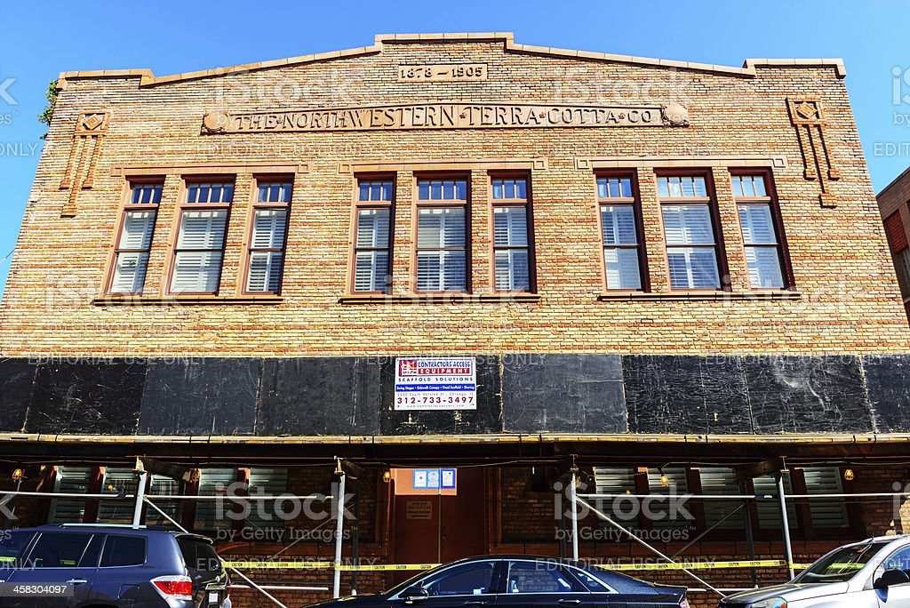 Northwestern Terra Cotta Company building in Chicago royalty-free stock photo
