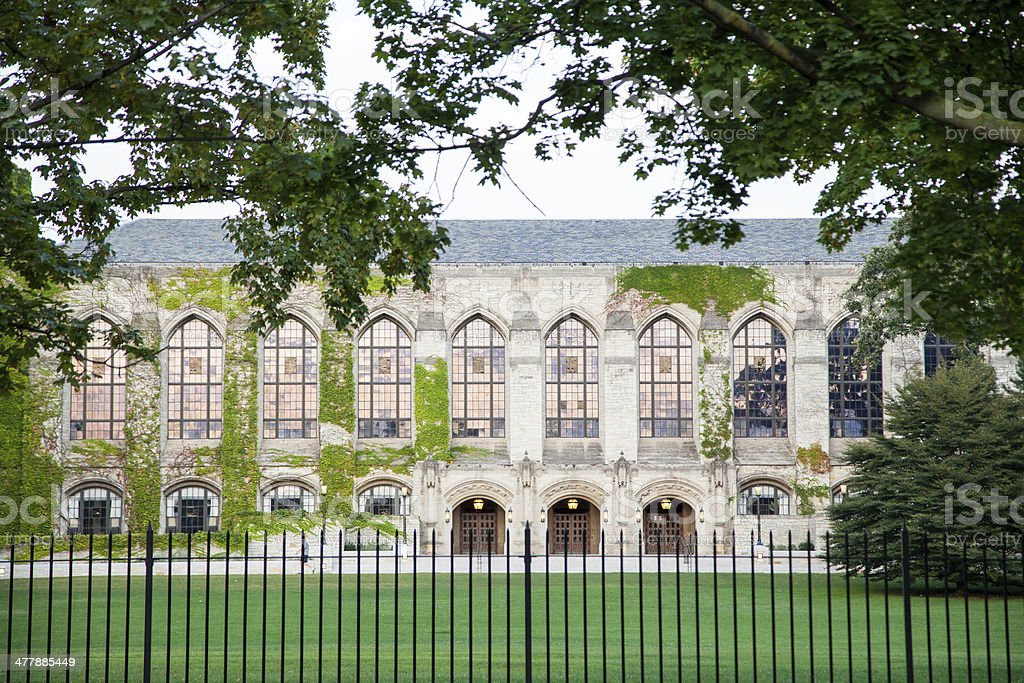Northwestern University - Deering Library royalty-free stock photo