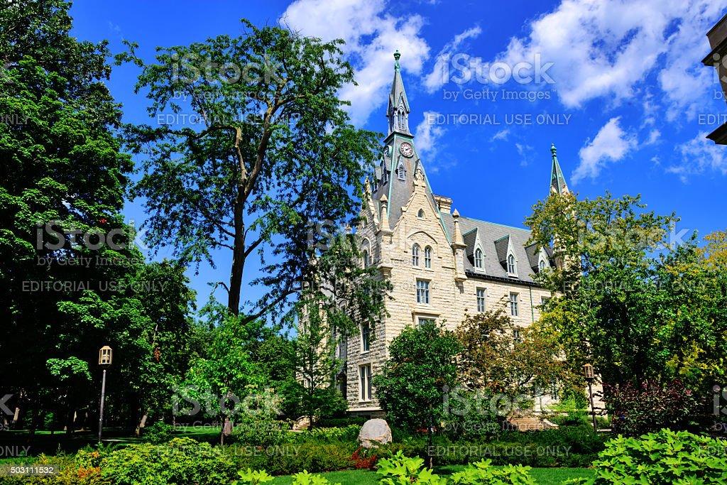 Northwestern University Hall in Evanston, Illinois stock photo