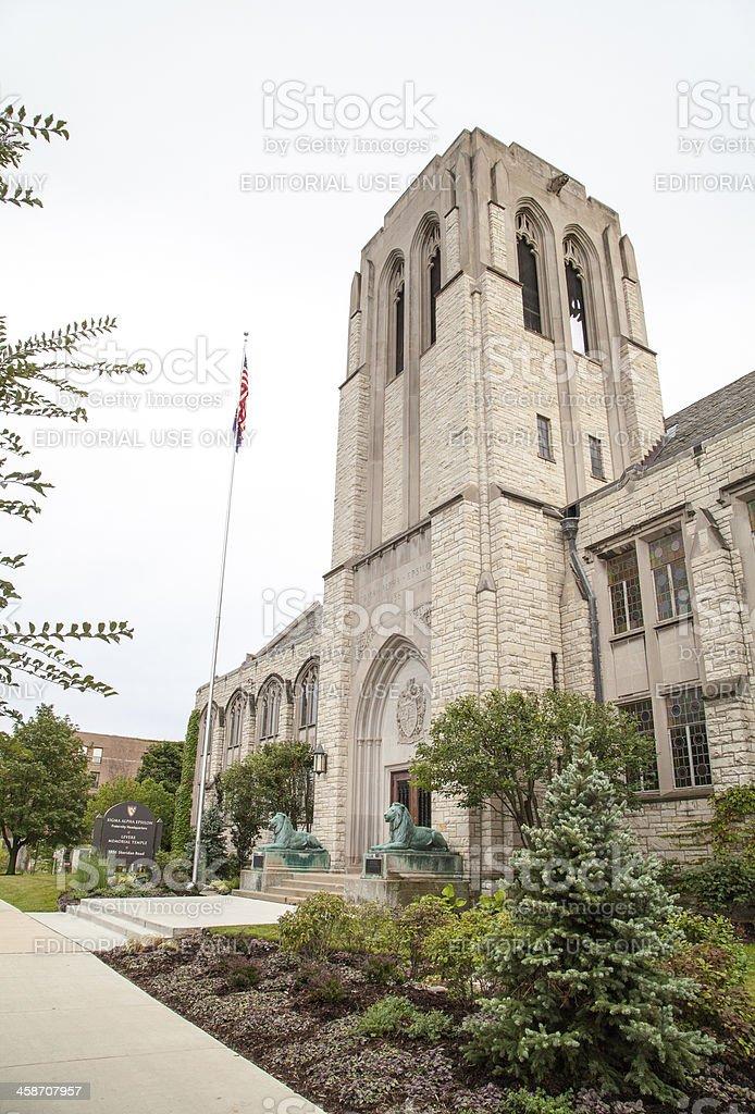 Northwestern University - Levere Temple royalty-free stock photo