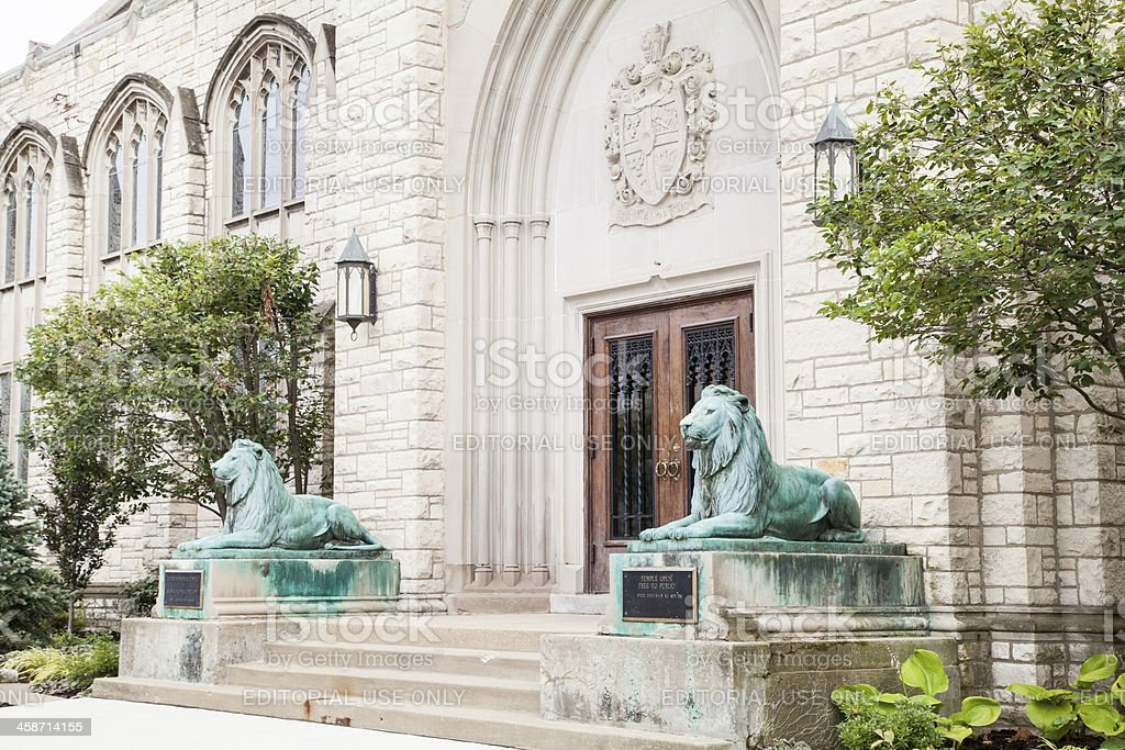 Northwestern University - Levere Temple royalty-free stock photo