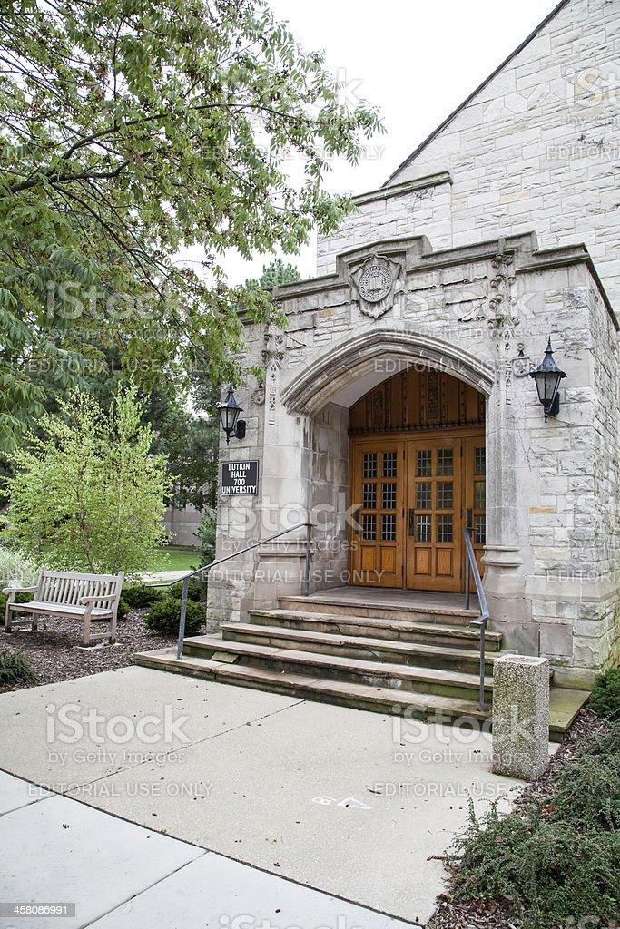 Northwestern University - Lutkin Hall royalty-free stock photo