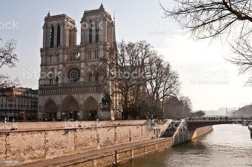 Nortre Dame and The River Seine stock photo