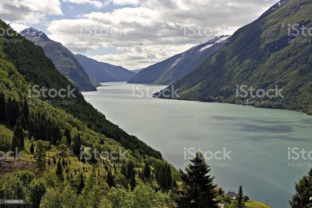 Norvegian fjord royalty-free stock photo