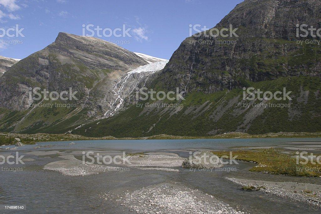 Norvegian mountain scenery stock photo