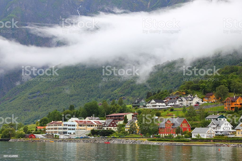 Norway - Aurland stock photo