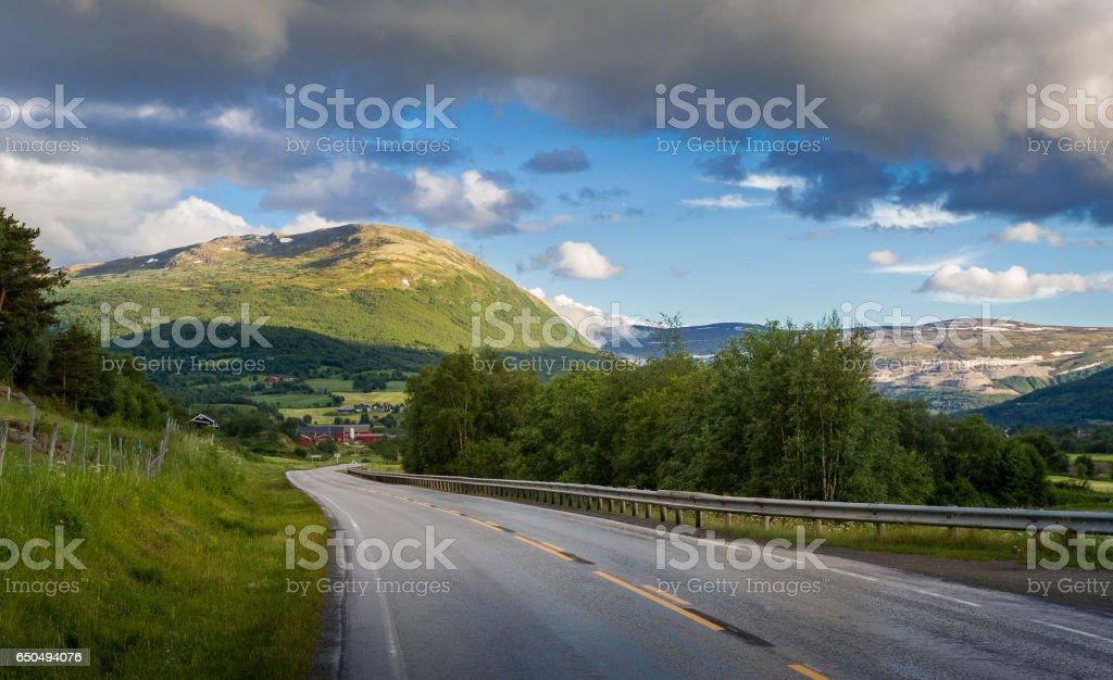 Norway auto trip stock photo