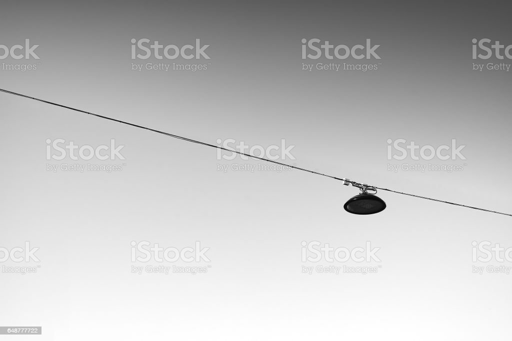 Norway black and white street lamp detail backdrop stock photo
