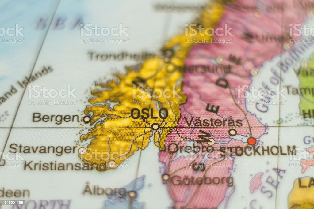 Norway country map . stock photo