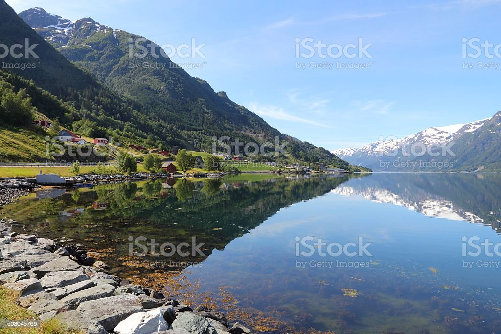 Norway fiord landscape stock photo