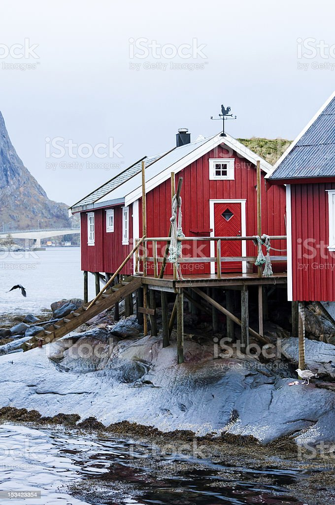 Norway fisherman's house royalty-free stock photo