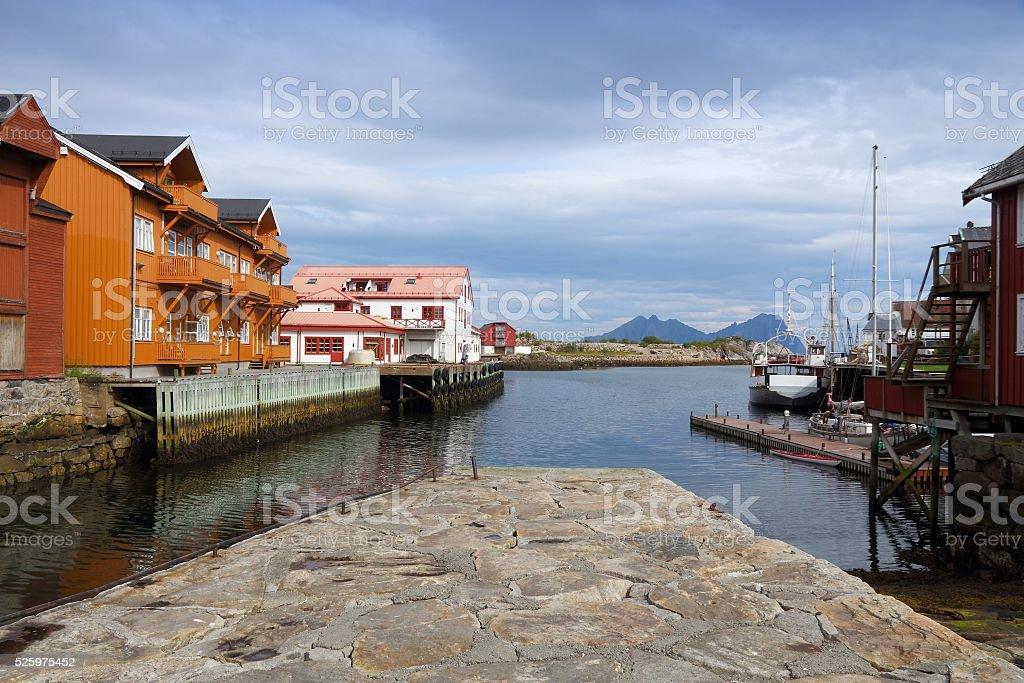 Norway fishing village stock photo