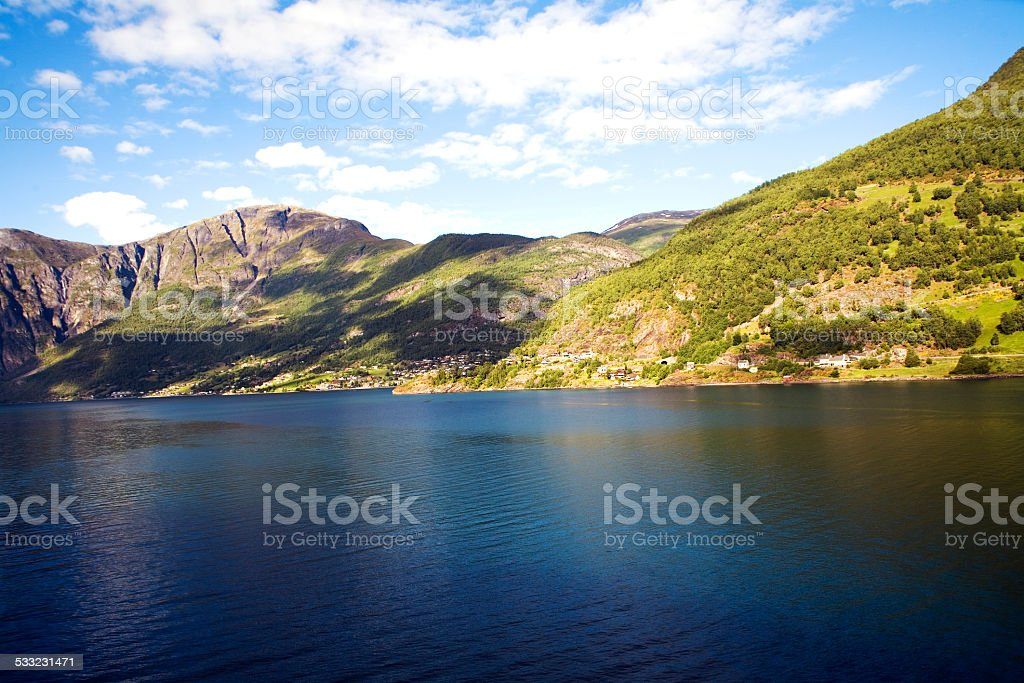 Norway fjord landscape in summer stock photo
