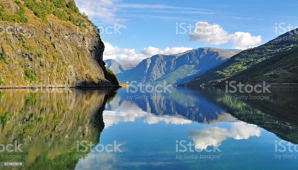 Norway fjords scenery, Flam stock photo