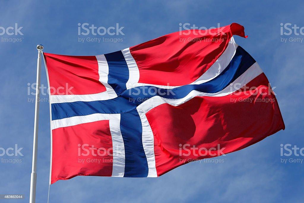 Norway flag stock photo