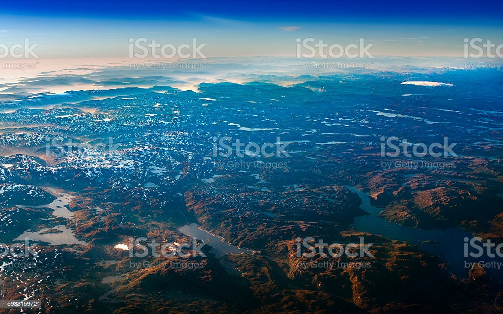 Norway from above royalty-free stock photo