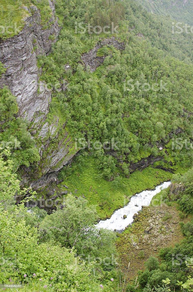 Norway- Geiranger Fjord-On top of mountains royalty-free stock photo
