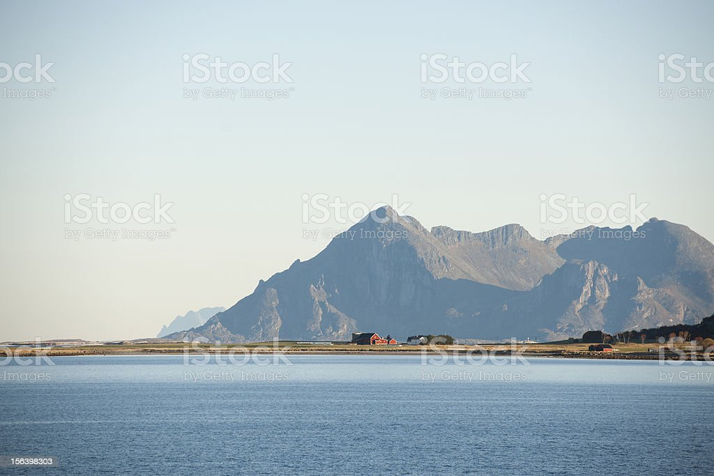 Norway Isolated Red Farm royalty-free stock photo