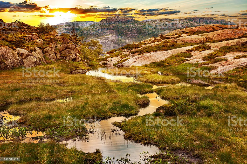 Norway landscape - Mountains stock photo