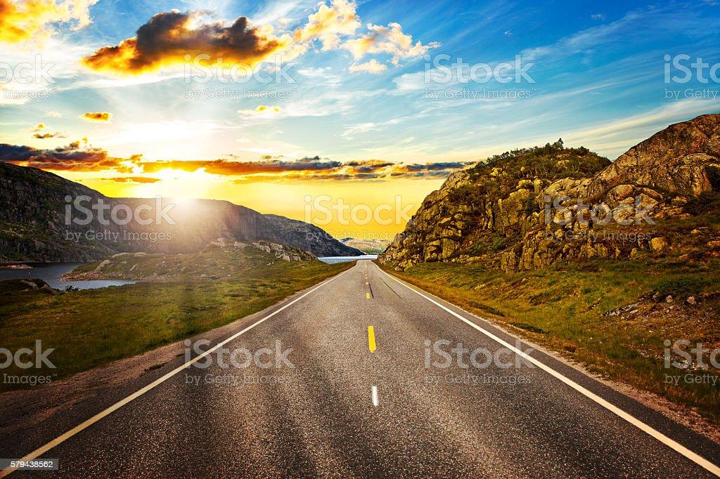 Norway landscape - Mountains stock photo