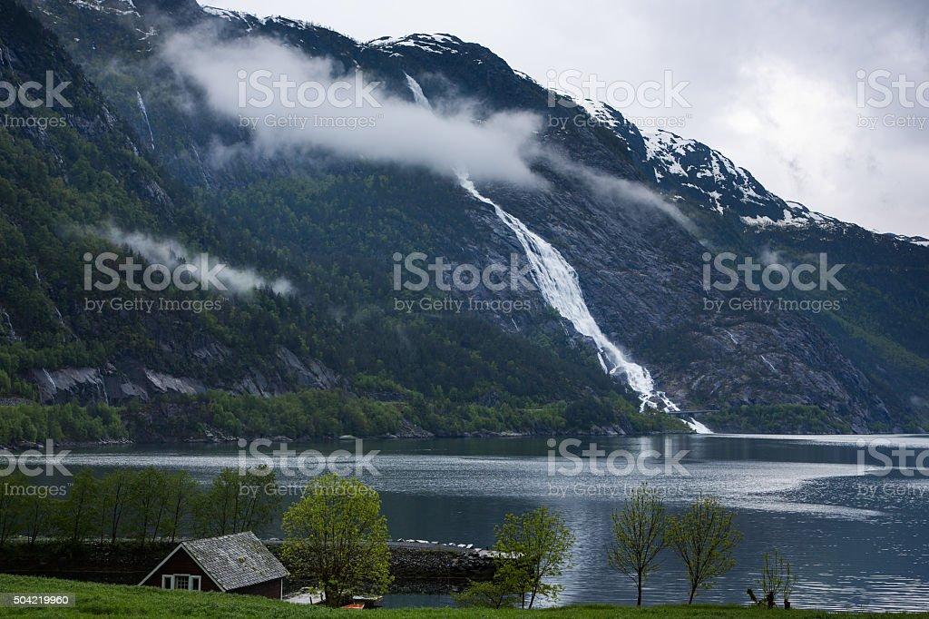 Norway, Latefossen stock photo