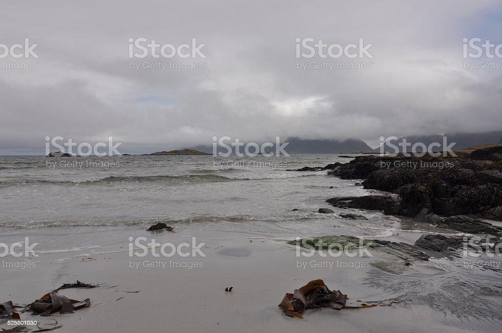 Norway, Lofoten islands, beach stock photo