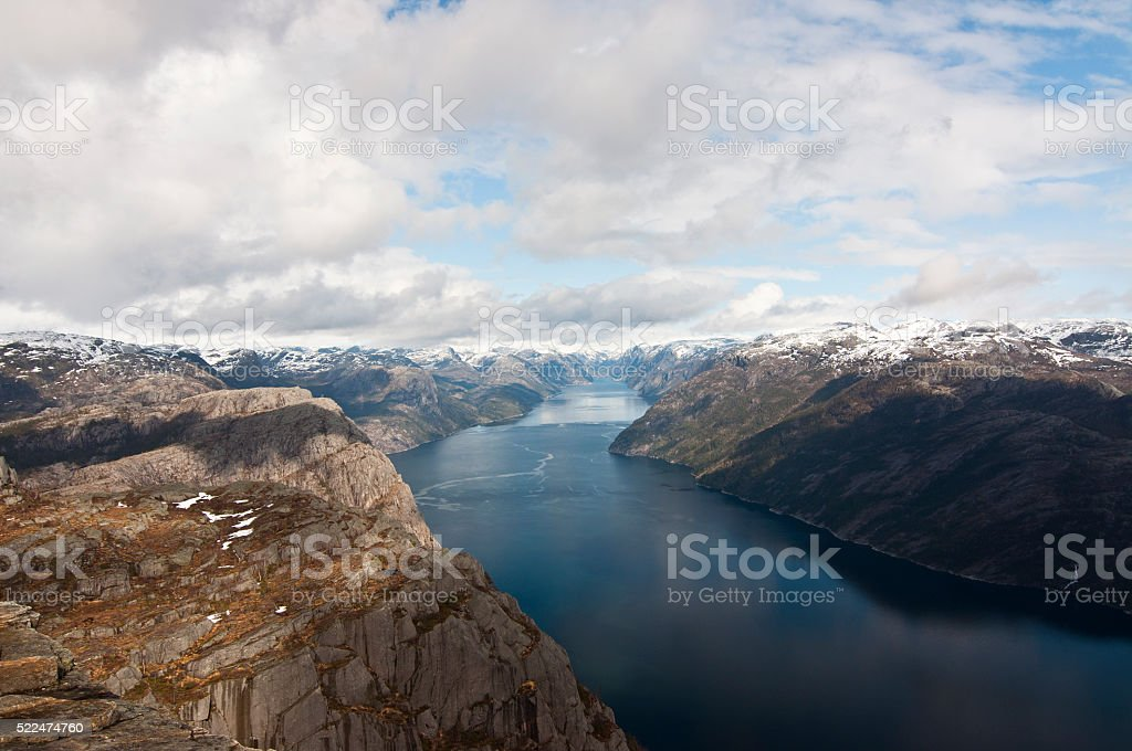Norway, Lysefjord stock photo