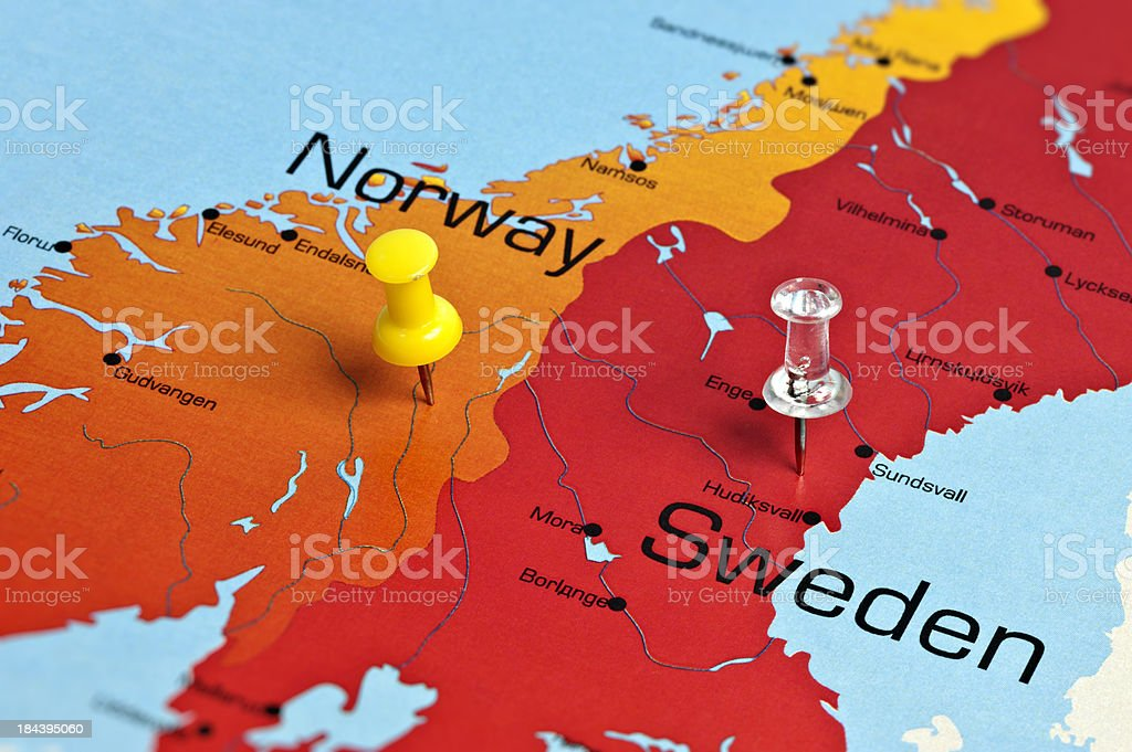 Norway Map royalty-free stock photo