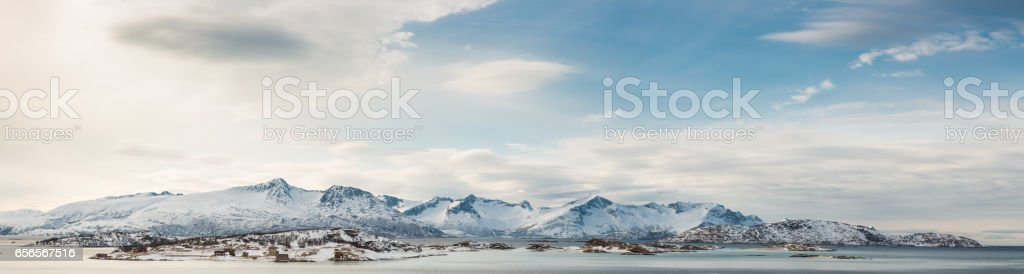 Norway mountains in winter stock photo