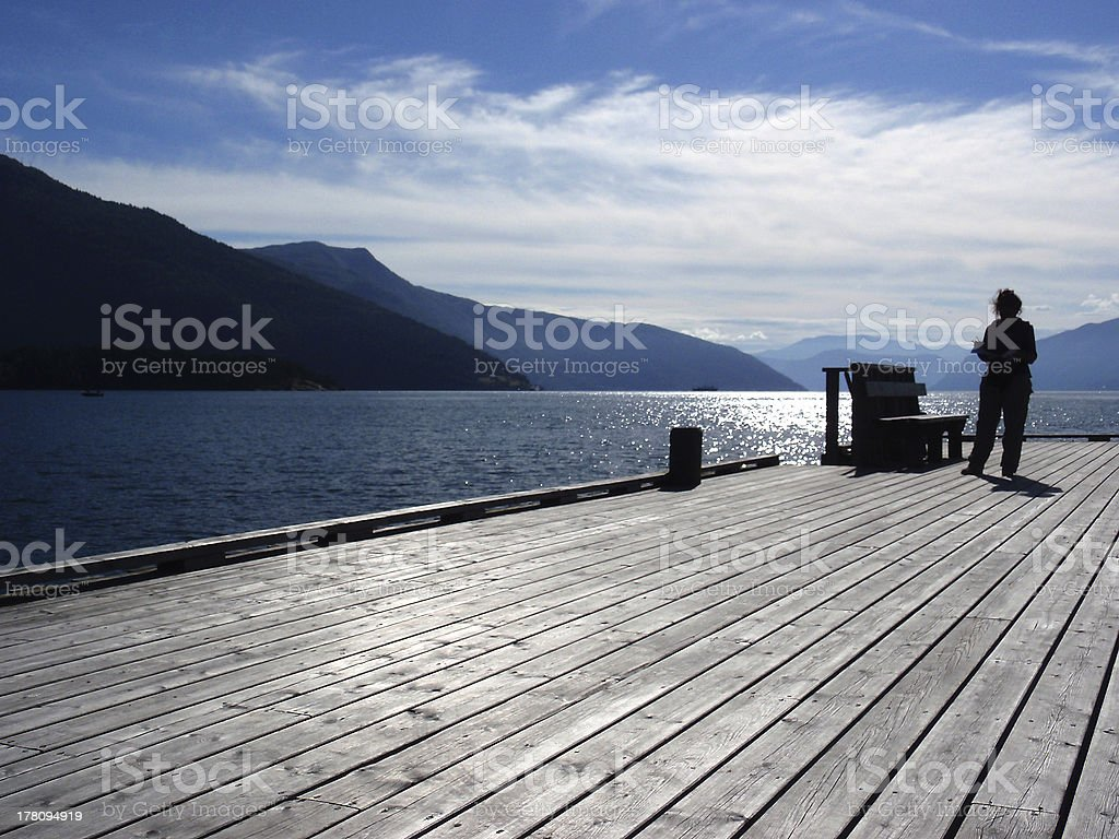 norway, pier royalty-free stock photo