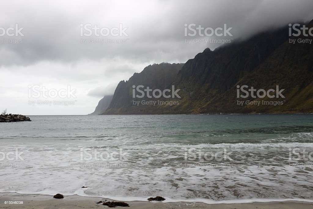 Norway, Senja / Storm on second largest island. stock photo