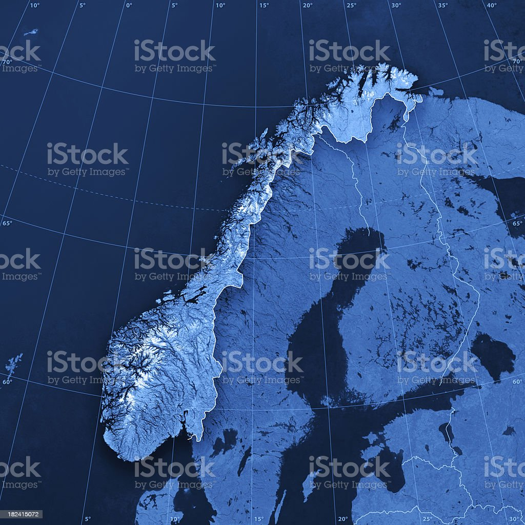 Norway Topographic Map royalty-free stock photo