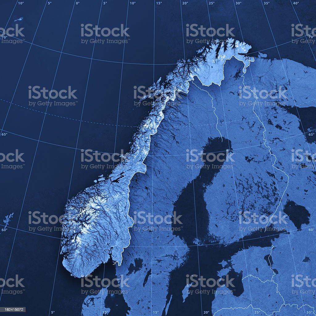 Norway Topographic Map stock photo