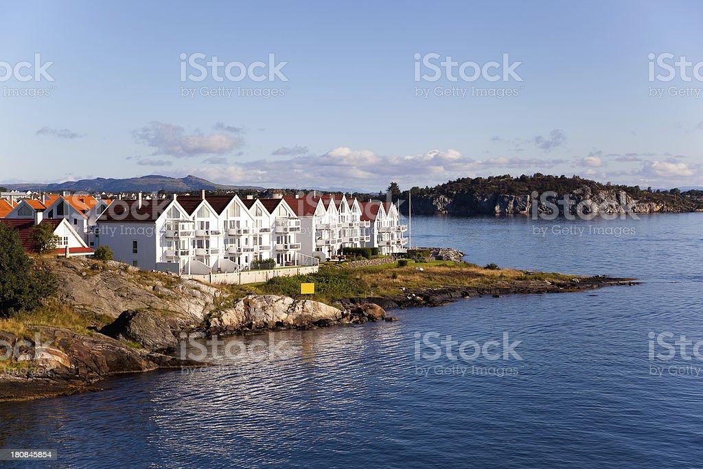 Norway town stock photo