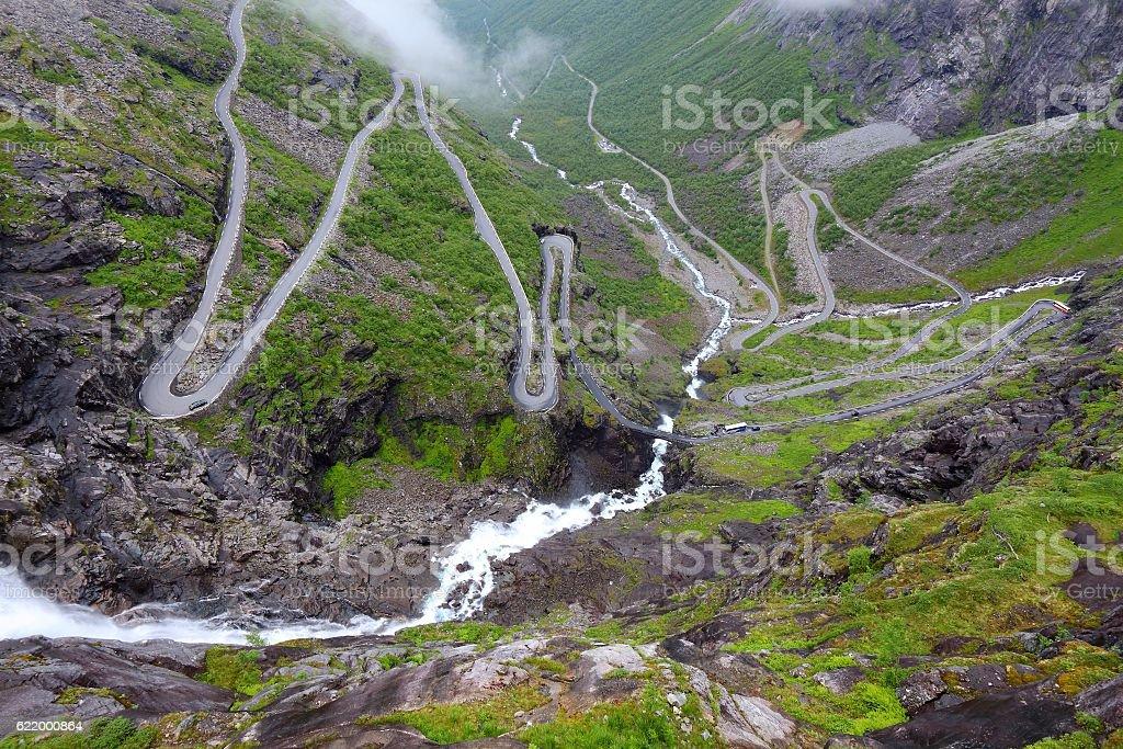 Norway Troll Road stock photo