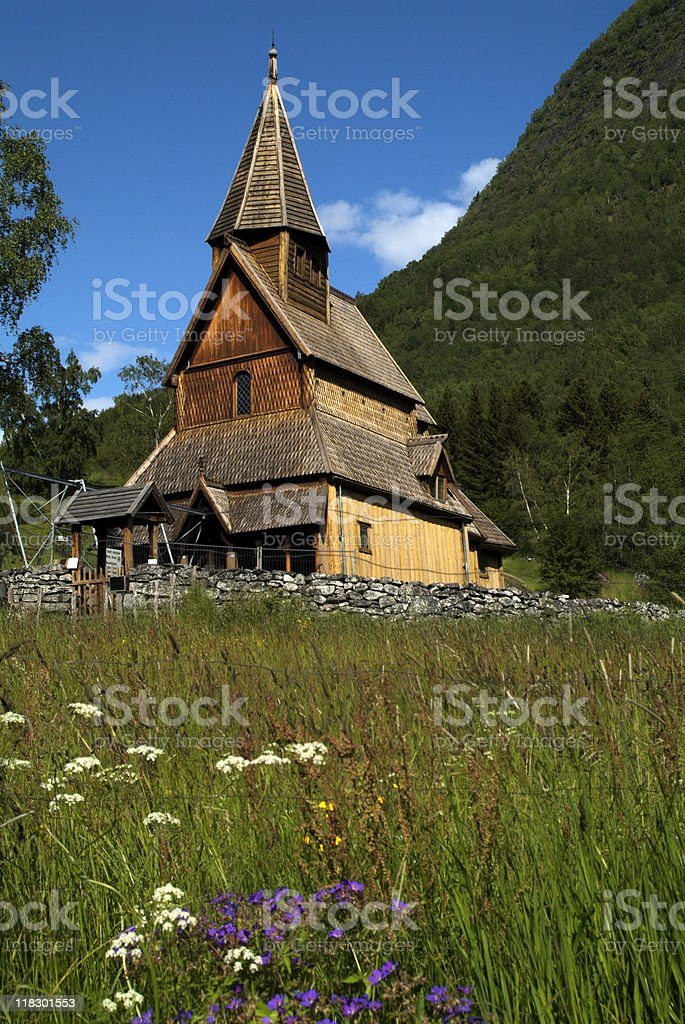 Norwegen, Urnes Stave Church royalty-free stock photo