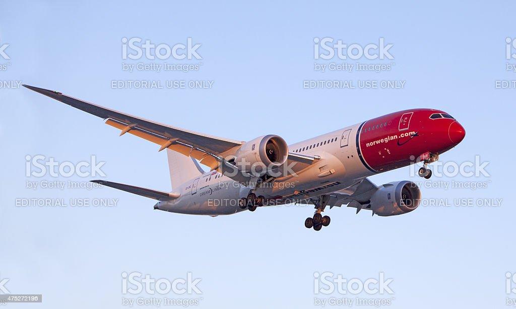 Norwegian Air Boeing 787 Dreamliner stock photo