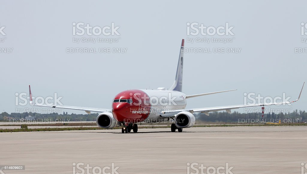 Норвежский Авиакомпании Стоковые фото Стоковая фотография